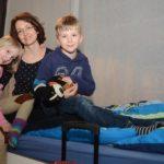 Angelika und ihre Kinder Barbara und Georg