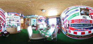 Rote-Bullen-Fanzimmer (Foto: Regina Katzer)
