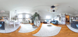 Wohnküche in 360 Grad (Foto: Regina Katzer)
