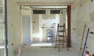Blick in die Küche während des Umbaus (Foto: privat)