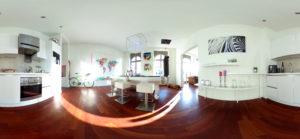 Offener Küchenbereich in 360 Grad