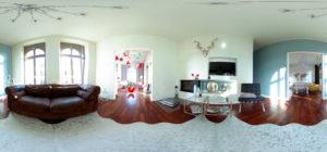 Wohnzimmer in 360 Grad