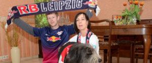 RB-Fans Ute und Sohn Christian (Foto: Regina Katzer)