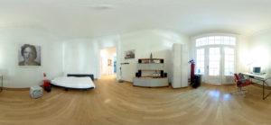 Schlafzimmer-Blick in 360 Grad