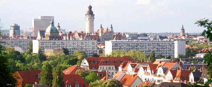 Blick vom Fockeberg auf Leipzig (Foto: Regina Katzer)