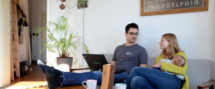 Hausbesuch bei Pauline, Angelo und Edgar in der Südvorstadt (Foto: Regina Katzer)