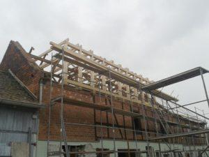 Vorher-Foto: Die Baustelle Mehrgenerationenhof in Lindennaundorf (Foto: privat)