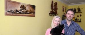 Hausbesuch bei Familie Uhr in Anger-Crottendorf (Foto: Regina Katzer)