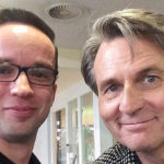 Komparse Stephan Taubert (li) und GZSZ-Serienstar Wolfgang Bahro (Foto: privat)